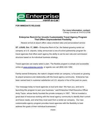 Enterprise Rent-A-Car Travel Agency Program - Enterprise Holdings