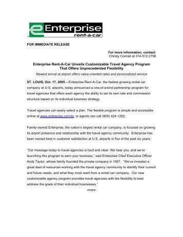 Enterprise Rent-A-Car Travel Agency Program - Enterprise Holdings