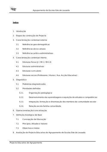 Agrupamento de Escolas Este de Lousada Índice 1. Introdução 2 ...