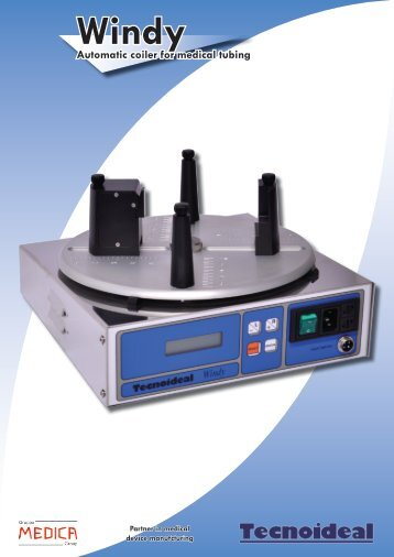 Windy Automatic coiler for medical tubing - Tecnoideal Srl