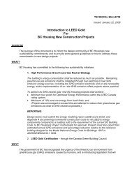 Introduction to LEED Gold. - BC Housing