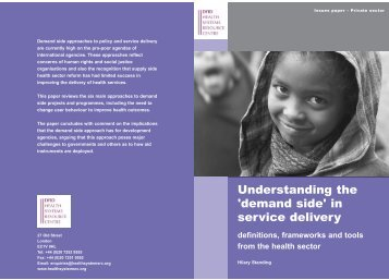 Understanding the 'demand side'in service delivery:definitions ...