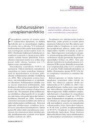 Kohdunsisäinen ureaplasmainfektio - Duodecim