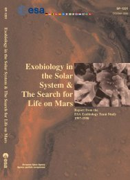 Exobiology in the Solar System & The Search for Life on Mars - ESA