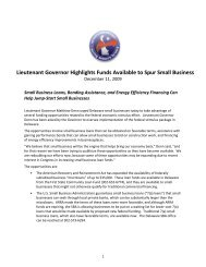 Lieutenant Governor Highlights Funds Available to Spur Small ...