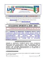 COMUNICATO n.42 del 19/05/2011 - FIGC