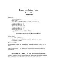 Logger Lite Release Notes