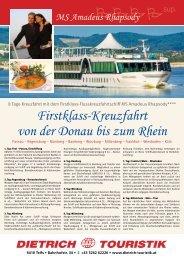 Firstklass-Kreuzfahrt von der Donau bis zum Rhein