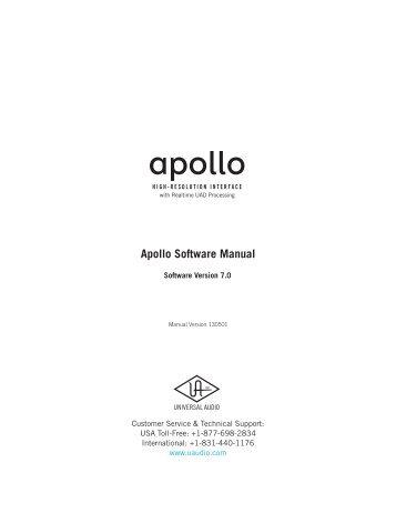Apollo Software Manual v7.0 - zZounds.com