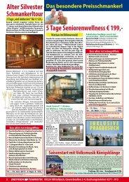 5 Tage seniorenwellness € 199,- Alter silvester schmankerltour
