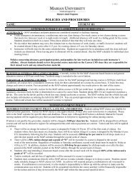 MAP Policies and Procedures Form - Marian University