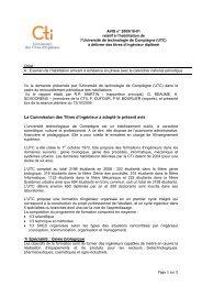 Avis UT Compiègne - Commission des Titres d'Ingénieur