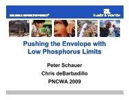 Pushing the Envelope with Low Phosphorus Limits - pncwa