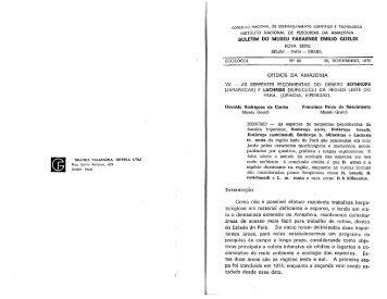 B MPEG Zoo n83 1975 CUNHA.pdf - Museu Paraense Emílio Goeldi