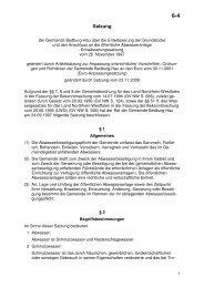 6-4 Entwässerungssatzung - Gemeinde Bedburg-Hau