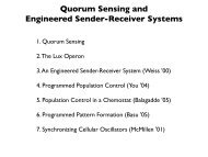 Quorum Sensing and Engineered Sender-Receiver Systems
