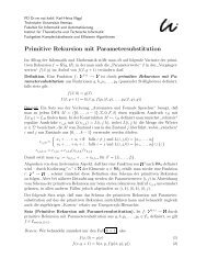 Primitive Rekursion mit Parametersubstitution - Automaten und ...