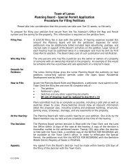 Planning Board Special Permit Application - Lenox