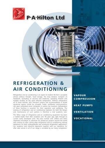 Refrigeration and Air Conditioning - PA Hilton
