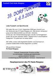 Hauptsponsoren des FC Hasle-Rüegsau