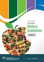 Australian Dietary Guidelines - Summary - National Health and ...