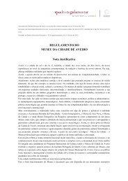 Regulamento do Museu da Cidade de Aveiro - Câmara municipal ...