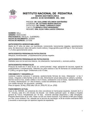 20/11/08 - Instituto Nacional de Pediatría