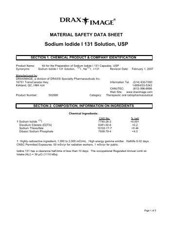 Sodium Iodide I 131 Solution, USP