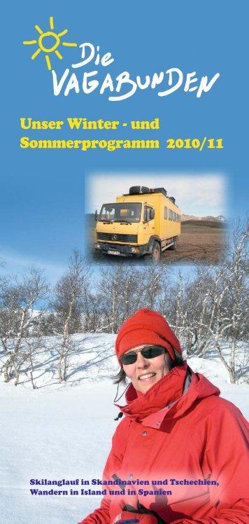 Unser Winter - und Sommerprogramm 2010/11