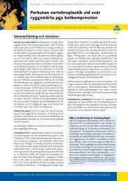 Tidigare publicerad rapport om perkutan vertebroplastik, nr ... - SBU