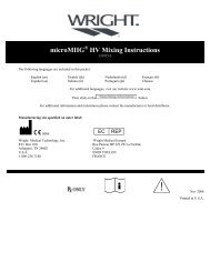 microMIIG HV Mixing Instructions - Wright Medical Technology, Inc.