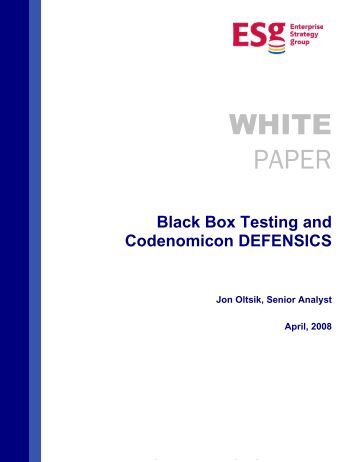 research papers on white box testing Fold testing actions a unit testing of cloud service apis following white and  black box  suggest that there is a lack of research papers addressing new  issues.