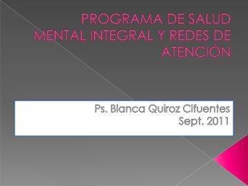 redes y programas de atención en salud mental - SEREMI de Salud ...