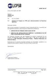 15 Lepsa-Tanque FRP.pdf - sedapal.com.pe