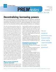 Decentralizing Borrowing Powers - World Bank