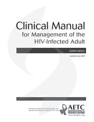 Clinical Manual for Management of the HIV-Infected ... - myCME.com