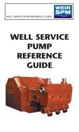 SPM599A - PUMP REF GUIDE - 2009 - Weir Oil & Gas Division