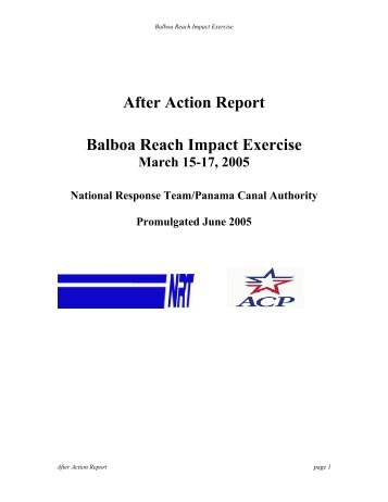 After Action Report Balboa Reach Impact Exercise - U.S. National ...