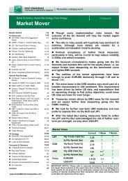 Market Mover - BNP PARIBAS - Investment Services India