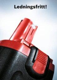 Ledningsfritt! - Bosch elektroverktøy