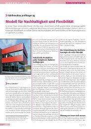 Modell für Nachhaltigkeit und Flexibilität - IE Engineering Group AG