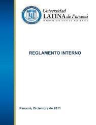 Reglamento de Recursos Humanos 21.12.11 - Universidad Latina ...