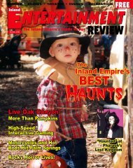 October, 2003 - Inland Entertainment Review Magazine