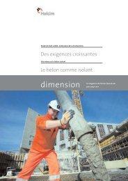 dimension 1/07 - Holcim Schweiz