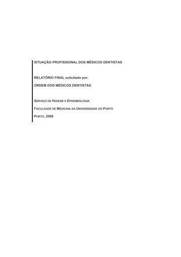 relatório - Ordem dos Médicos Dentistas
