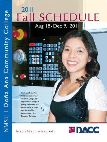 Fall 2011 Schedule of Classes - Dona Ana Community College