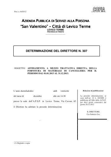 """""""San Valentino"""" """"San Valentino"""" – Città di Levico Terme Città di ..."""