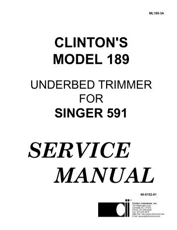 clinton's model 189 - Superior Sewing Machine and Supply Corp.