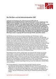 Die PdA Bern und die Nationalratswahlen 2007