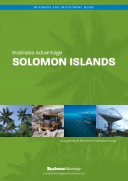 SOLOMON ISLANDS - Business Advantage International